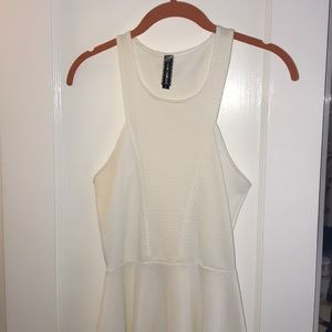 White Skater Dress with Cool top!